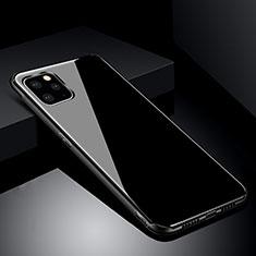 Apple iPhone 11 Pro Max用ハイブリットバンパーケース プラスチック 鏡面 カバー アップル ブラック