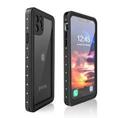 Apple iPhone 11 Pro Max用完全防水ケース ハイブリットバンパーカバー 高級感 手触り良い 360度 アップル ブラック