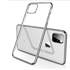 Apple iPhone 11 Pro Max用極薄ソフトケース シリコンケース 耐衝撃 全面保護 クリア透明 H03 アップル シルバー