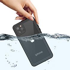 Apple iPhone 11 Pro Max用完全防水ケース ハイブリットバンパーカバー 高級感 手触り良い 360度 W01 アップル ブラック