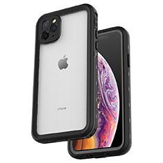 Apple iPhone 11 Pro Max用完全防水ケース ハイブリットバンパーカバー 高級感 手触り良い 360度 W04 アップル ブラック