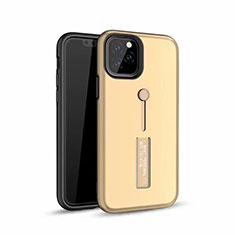 Apple iPhone 11 Pro Max用ハイブリットバンパーケース プラスチック アンド指輪 兼シリコーン カバー S01 アップル ゴールド