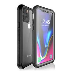 Apple iPhone 11 Pro Max用完全防水ケース ハイブリットバンパーカバー 高級感 手触り良い 360度 W02 アップル ブラック