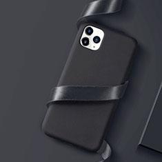 Apple iPhone 11 Pro Max用極薄ソフトケース シリコンケース 耐衝撃 全面保護 S01 アップル ブラック