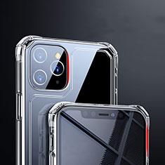 Apple iPhone 11 Pro Max用極薄ソフトケース シリコンケース 耐衝撃 全面保護 クリア透明 T03 アップル クリア