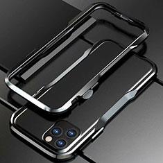 Apple iPhone 11 Pro Max用ケース 高級感 手触り良い アルミメタル 製の金属製 バンパー カバー アップル ブラック