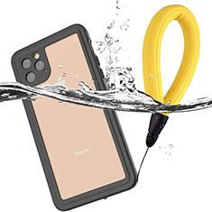 Apple iPhone 11 Pro Max用完全防水ケース ハイブリットバンパーカバー 高級感 手触り良い 360度 U01 アップル ブラック