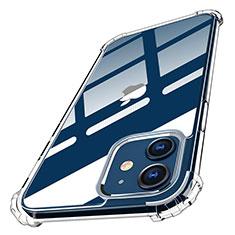 Apple iPhone 12用極薄ソフトケース シリコンケース 耐衝撃 全面保護 クリア透明 T05 アップル クリア