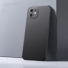 Apple iPhone 12用ハードケース プラスチック 質感もマット カバー P01 アップル ブラック
