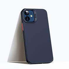 Apple iPhone 12用ハードケース プラスチック 質感もマット カバー P02 アップル ネイビー
