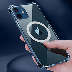 Apple iPhone 12用極薄ソフトケース シリコンケース 耐衝撃 全面保護 クリア透明 カバー Mag-Safe 磁気 Magnetic アップル クリア