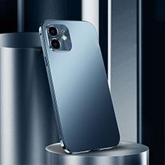 Apple iPhone 12用ケース 高級感 手触り良い アルミメタル 製の金属製 カバー N01 アップル ネイビー