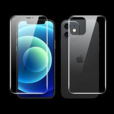 Apple iPhone 12用高光沢 液晶保護フィルム 背面保護フィルム同梱 F01 アップル クリア