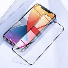 Apple iPhone 12用強化ガラス フル液晶保護フィルム F03 アップル ブラック
