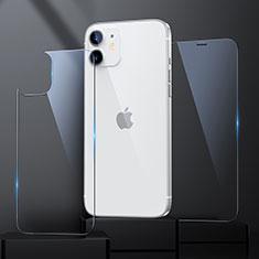 Apple iPhone 12 Mini用強化ガラス 液晶保護フィルム 背面保護フィルム同梱 アップル クリア