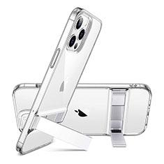 Apple iPhone 12 Pro用極薄ソフトケース シリコンケース 耐衝撃 全面保護 クリア透明 アンドサポート アップル レッド