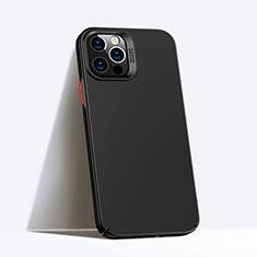 Apple iPhone 12 Pro用ハードケース プラスチック 質感もマット カバー P02 アップル ブラック
