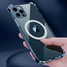 Apple iPhone 12 Pro用極薄ソフトケース シリコンケース 耐衝撃 全面保護 クリア透明 カバー Mag-Safe 磁気 Magnetic アップル クリア