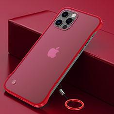 Apple iPhone 12 Pro用ハードカバー クリスタル クリア透明 N01 アップル レッド