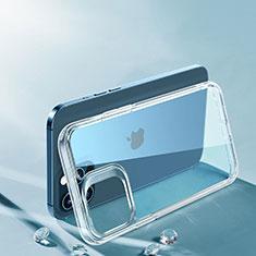 Apple iPhone 12 Pro Max用極薄ソフトケース シリコンケース 耐衝撃 全面保護 クリア透明 T06 アップル クリア
