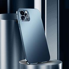 Apple iPhone 12 Pro Max用ケース 高級感 手触り良い アルミメタル 製の金属製 カバー N02 アップル ネイビー
