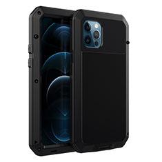 Apple iPhone 12 Pro Max用ケース 高級感 手触り良い アルミメタル 製の金属製 カバー N01 アップル ブラック