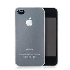 Apple iPhone 4用ソフトケース クリア透明 質感もマット アップル ホワイト