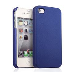 Apple iPhone 4用ハードケース プラスチック 質感もマット アップル ネイビー