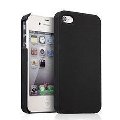 Apple iPhone 4用ハードケース プラスチック 質感もマット アップル ブラック