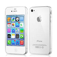 Apple iPhone 4用極薄ソフトケース シリコンケース 耐衝撃 全面保護 クリア透明 アップル クリア