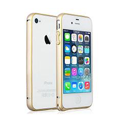 Apple iPhone 4S用ケース 高級感 手触り良い アルミメタル 製の金属製 バンパー アップル ゴールド