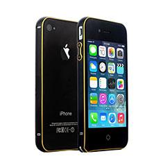 Apple iPhone 4S用ケース 高級感 手触り良い アルミメタル 製の金属製 バンパー アップル ブラック