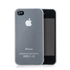 Apple iPhone 4S用ソフトケース クリア透明 質感もマット アップル ホワイト