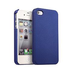 Apple iPhone 4S用ハードケース プラスチック 質感もマット アップル ネイビー