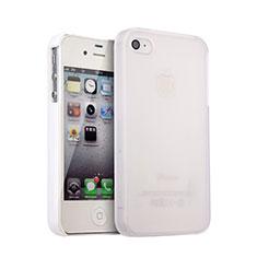 Apple iPhone 4S用ハードケース プラスチック 質感もマット アップル ホワイト