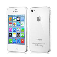 Apple iPhone 4S用極薄ソフトケース シリコンケース 耐衝撃 全面保護 クリア透明 アップル クリア
