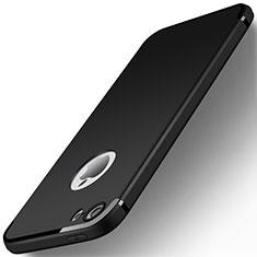 Apple iPhone 5用極薄ソフトケース シリコンケース 耐衝撃 全面保護 U01 アップル ブラック