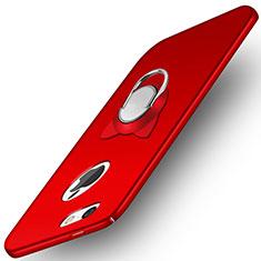 Apple iPhone 5用ハードケース プラスチック 質感もマット アンド指輪 A01 アップル レッド