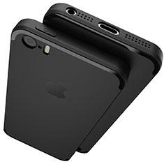 Apple iPhone 5用極薄ソフトケース シリコンケース 耐衝撃 全面保護 U02 アップル ブラック