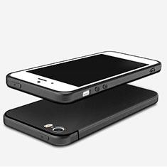 Apple iPhone 5用極薄ソフトケース シリコンケース 耐衝撃 全面保護 U04 アップル ブラック