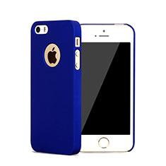 Apple iPhone 5用ハードケース プラスチック 質感もマット ロゴを表示します アップル ネイビー