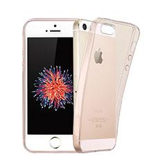 Apple iPhone 5用極薄ソフトケース シリコンケース 耐衝撃 全面保護 クリア透明 アップル ピンク