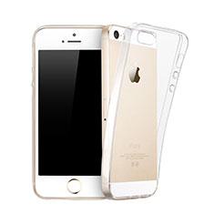 Apple iPhone 5用極薄ソフトケース シリコンケース 耐衝撃 全面保護 クリア透明 アップル クリア