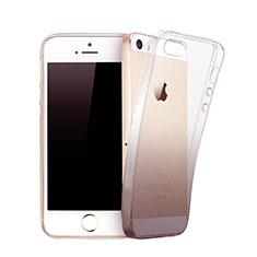 Apple iPhone 5用極薄ソフトケース グラデーション 勾配色 クリア透明 アップル グレー
