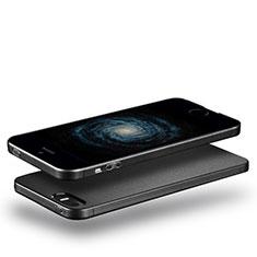 Apple iPhone 5用極薄ソフトケース シリコンケース 耐衝撃 全面保護 アップル ブラック