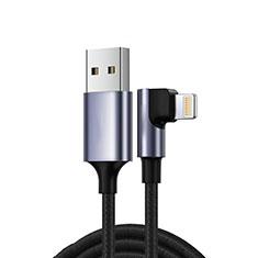 Apple iPhone 5S用USBケーブル 充電ケーブル C10 アップル ブラック
