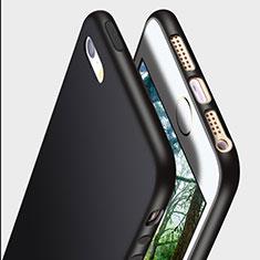 Apple iPhone 5S用極薄ソフトケース シリコンケース 耐衝撃 全面保護 R01 アップル ブラック