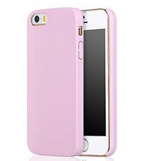 Apple iPhone 5S用360度 フルカバー極薄ソフトケース シリコンケース 耐衝撃 全面保護 アップル ピンク