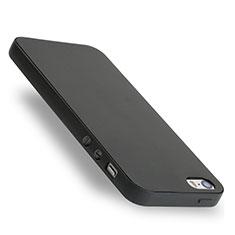 Apple iPhone 5S用シリコンケース ソフトタッチラバー アップル ブラック