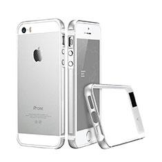 Apple iPhone 5S用ケース 高級感 手触り良い アルミメタル 製の金属製 バンパー アップル シルバー